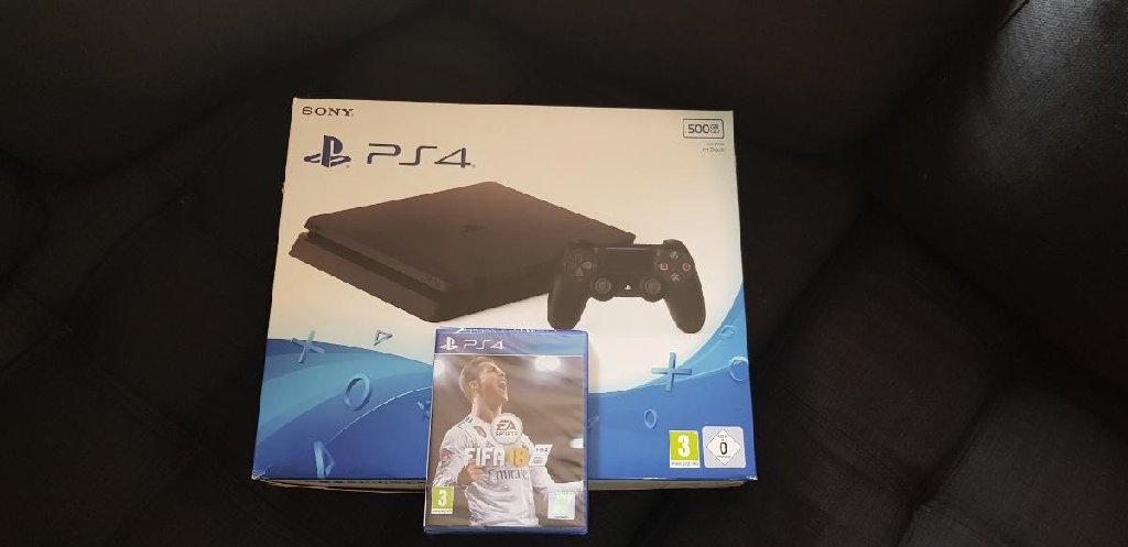Καινούριο Playstation 4, slim 500 GB μαζί με fifa 2018