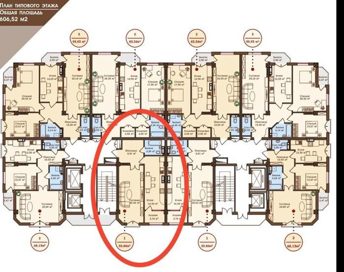 Продается квартира: 1 комната, 56 кв. м., Бишкек. Photo 5