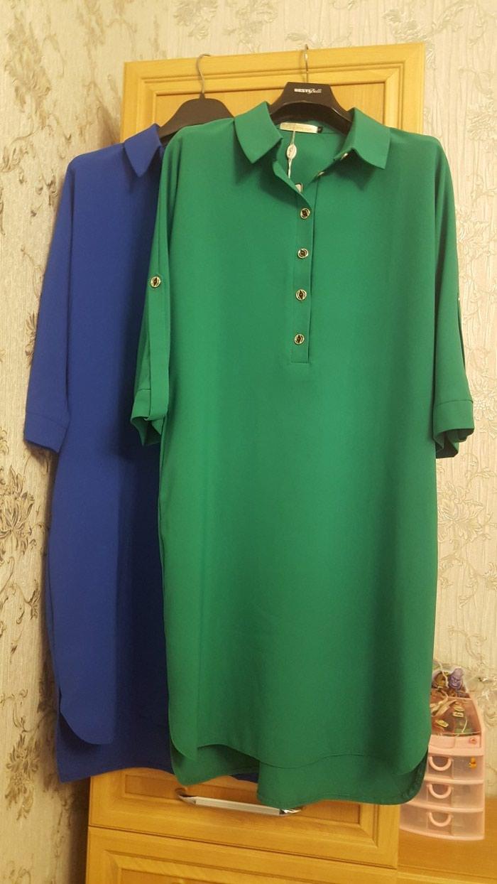 Платья .50 разм . Новые . Синее и зеленое . . Photo 3