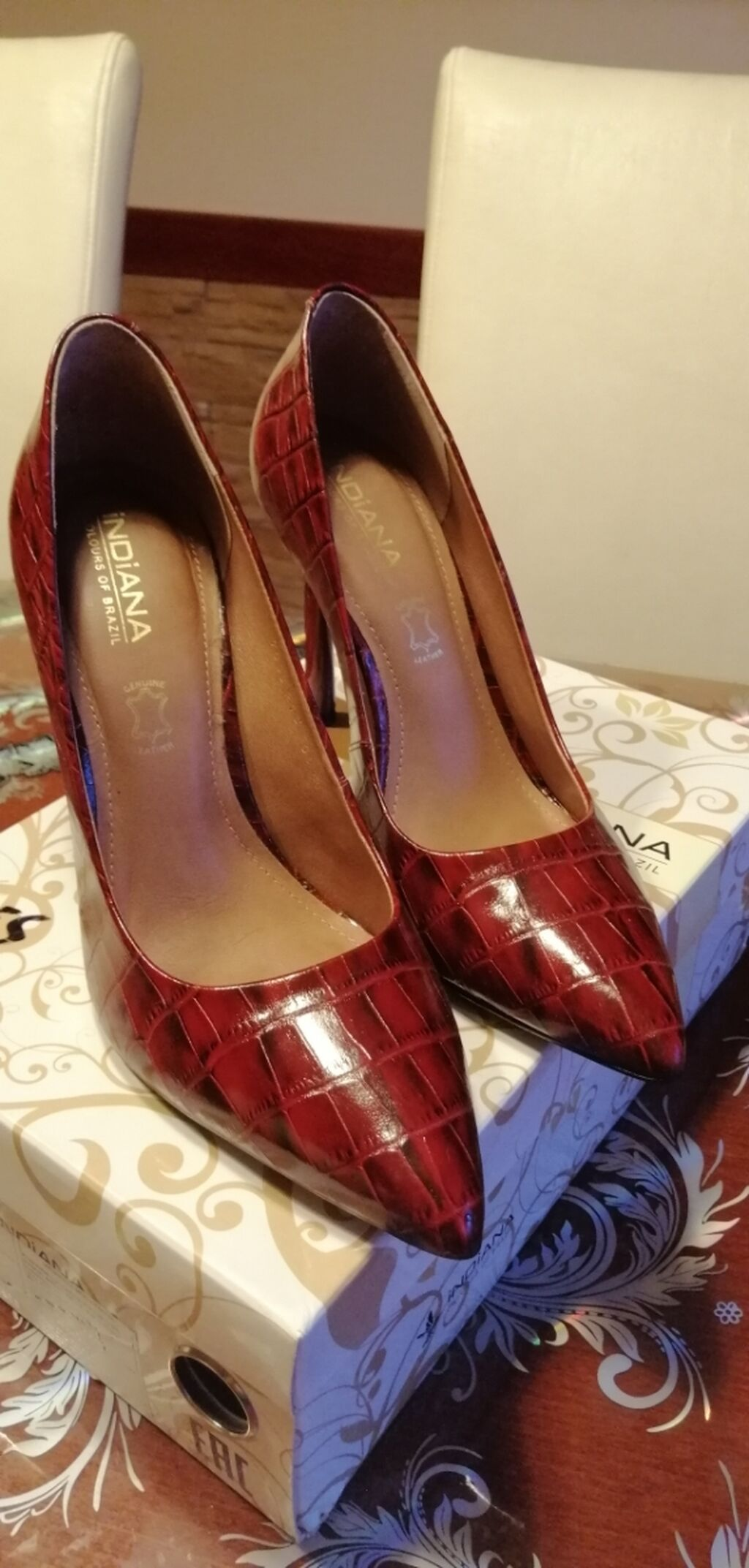 Kožna ženska salonka, jednom obuvena | Oglas postavljen 17 Septembar 2021 15:37:15 | ŽENSKA OBUĆA: Kožna ženska salonka, jednom obuvena