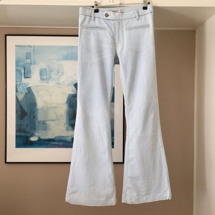 Zara ανοιχτό γαλάζιο jean καμπάνα.. Photo 1