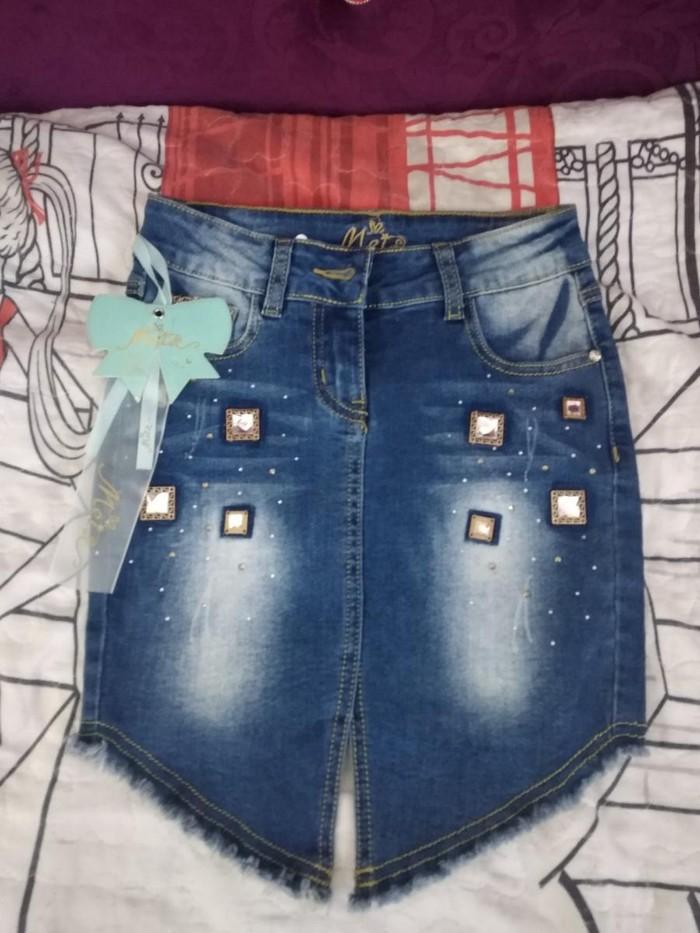 Детская джинсовая очень стильная юбочка,обсолютно новая.. Photo 1