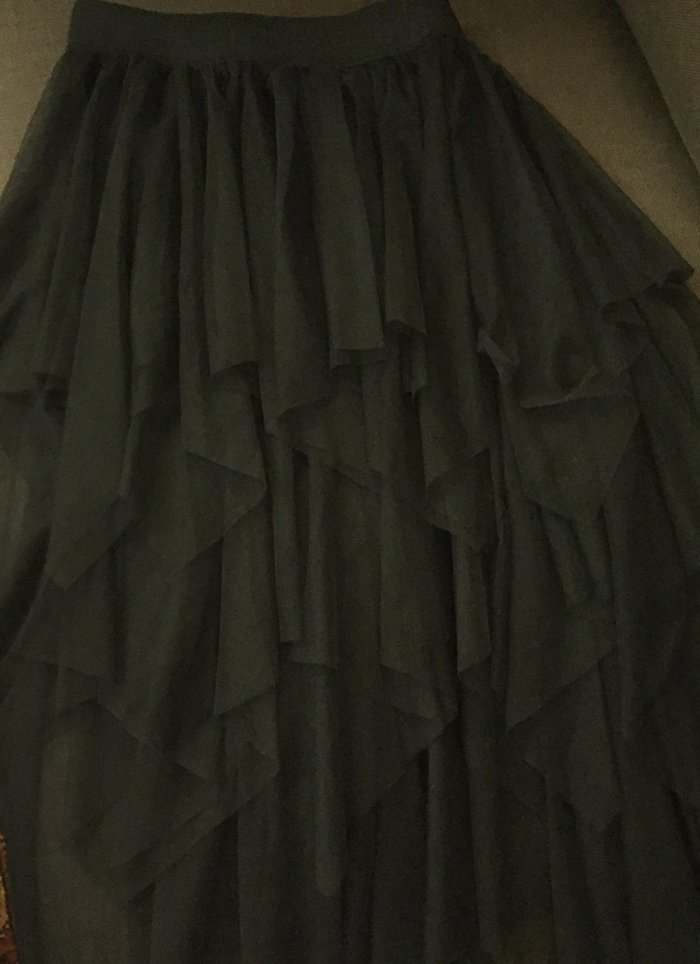 Μαύρη ασήμετρη φούστα από τούλια . Με λαστηχο στη μέση .Ολοκαίνουργια . Photo 1