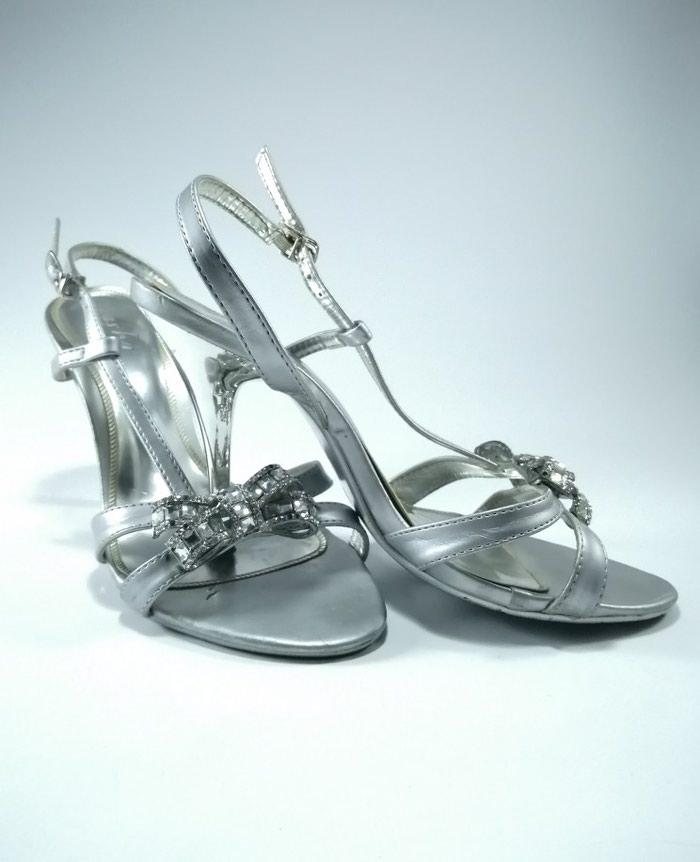 Srebrne sandale. Velicina 36. Photo 0