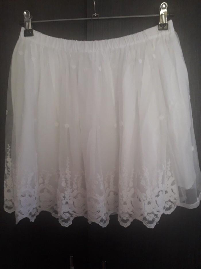 Bela suknja sa tilom nova,velicina m/l