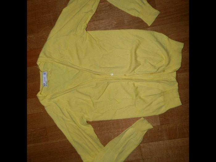 Zara small ζακετα φορεμενη 1-2 φορες σε εντονο κιτρινο  . Photo 0
