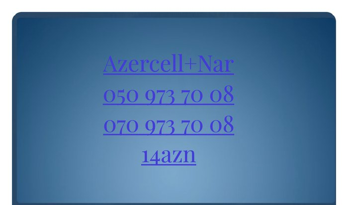 Azercell Nar 0509737008 Yeni nomre Unvan Xirldan seheri