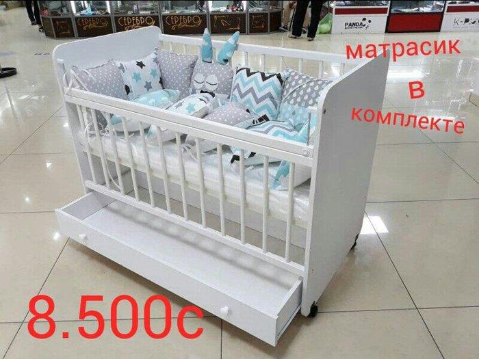 Кроватка соня цвета белая, дуб, в Бишкек