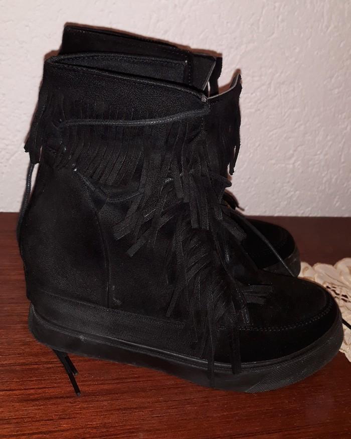 Patike/cipele sa skrivenom platformom..nošene 2 puta...broj 37. Photo 0
