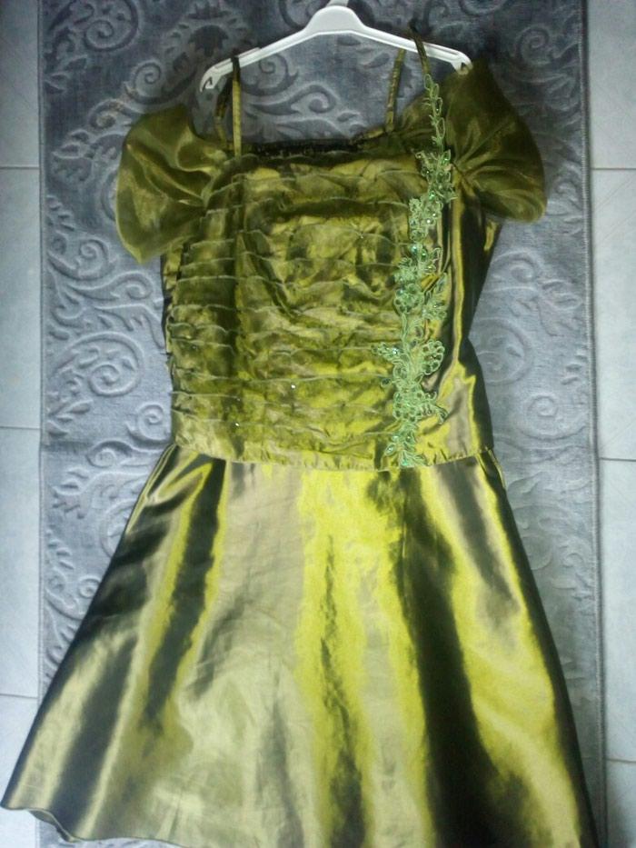 ΣΕΒΗ Πράσινο λαδί φόρεμα φορεμένο σε γάμο μια φορά!!άψογη εφαρμογη σε Γαλατάς