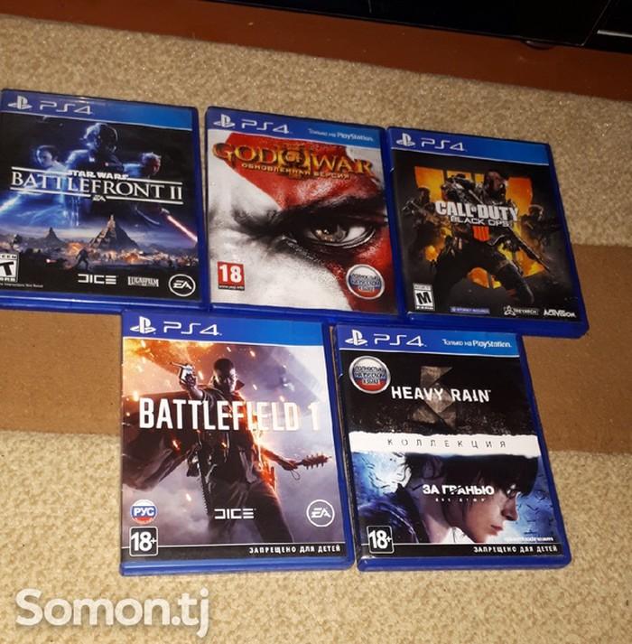 Комплект игр для PS4 5 дисков в  новом  состояний все . Photo 0