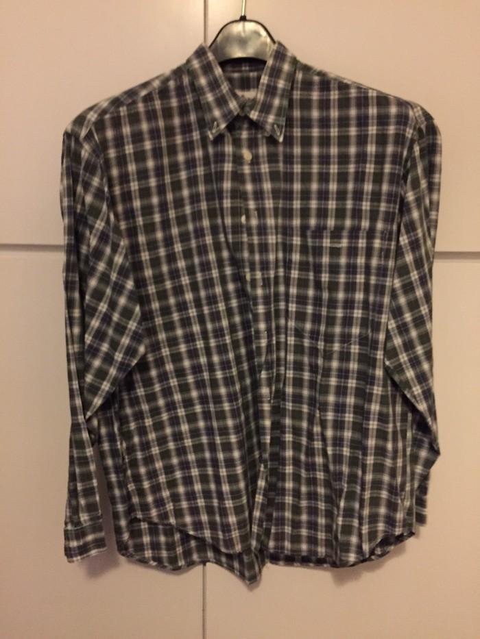 Καρώ βαμβακερό ανδρικό πουκάμισο . Νο Μ