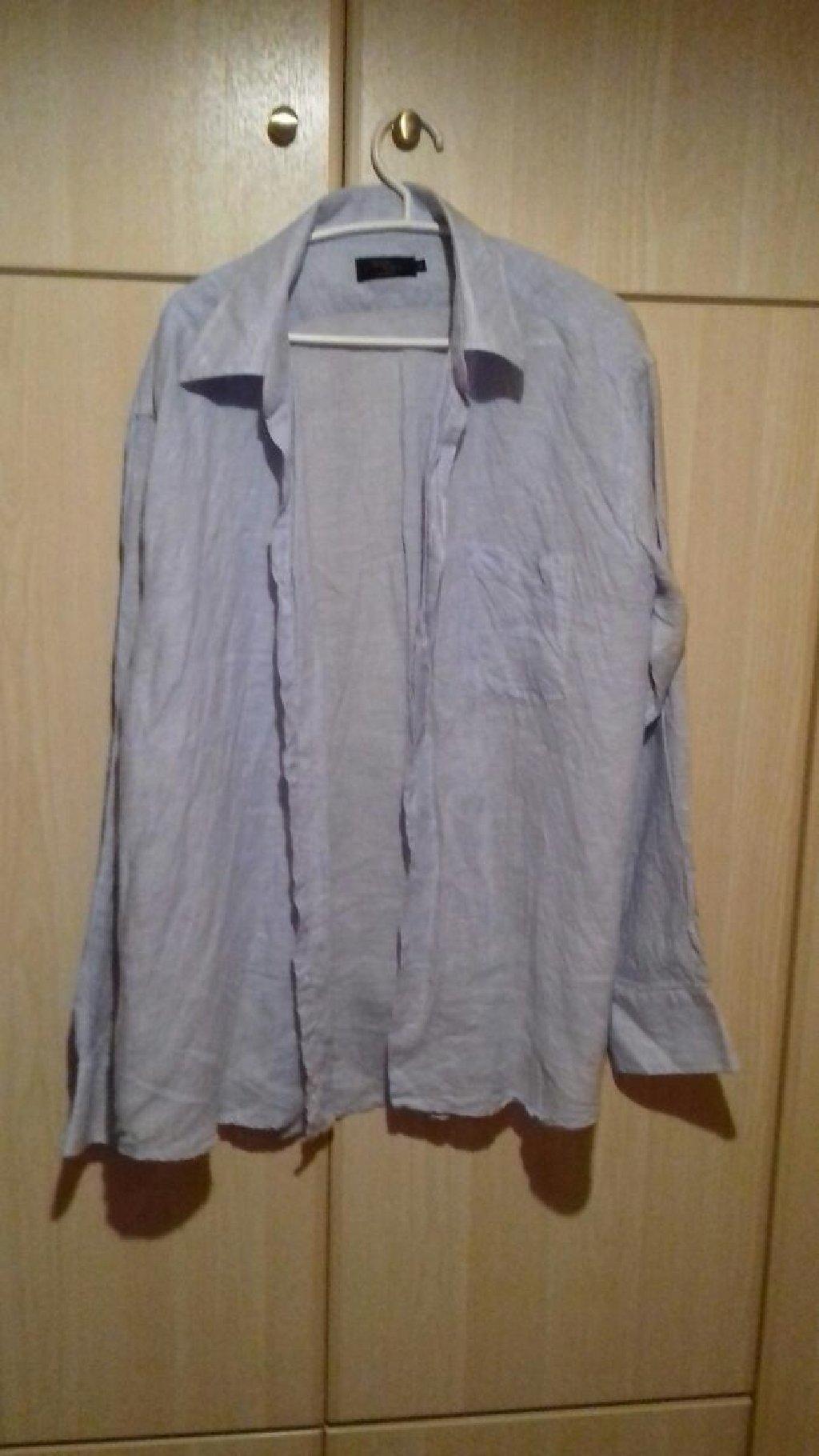 Ανδρικά πουκάμισα, XL, χρώμα : γαλάζιο και μωβ, ελάχιστες φορές φορεμένα, άριστη κατάσταση