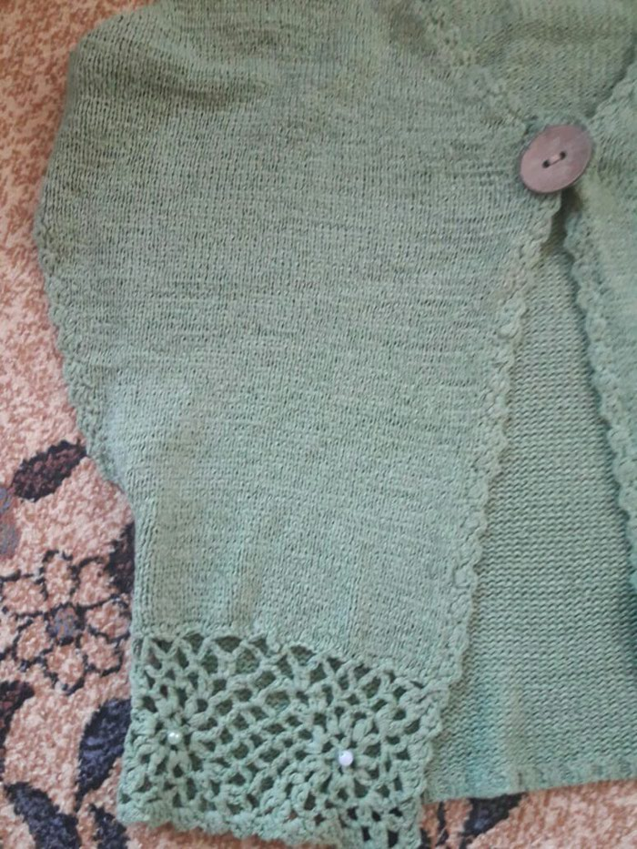 Pletena zenska jaknica....38/40 velicina...Nova..1200 dinara. Photo 3