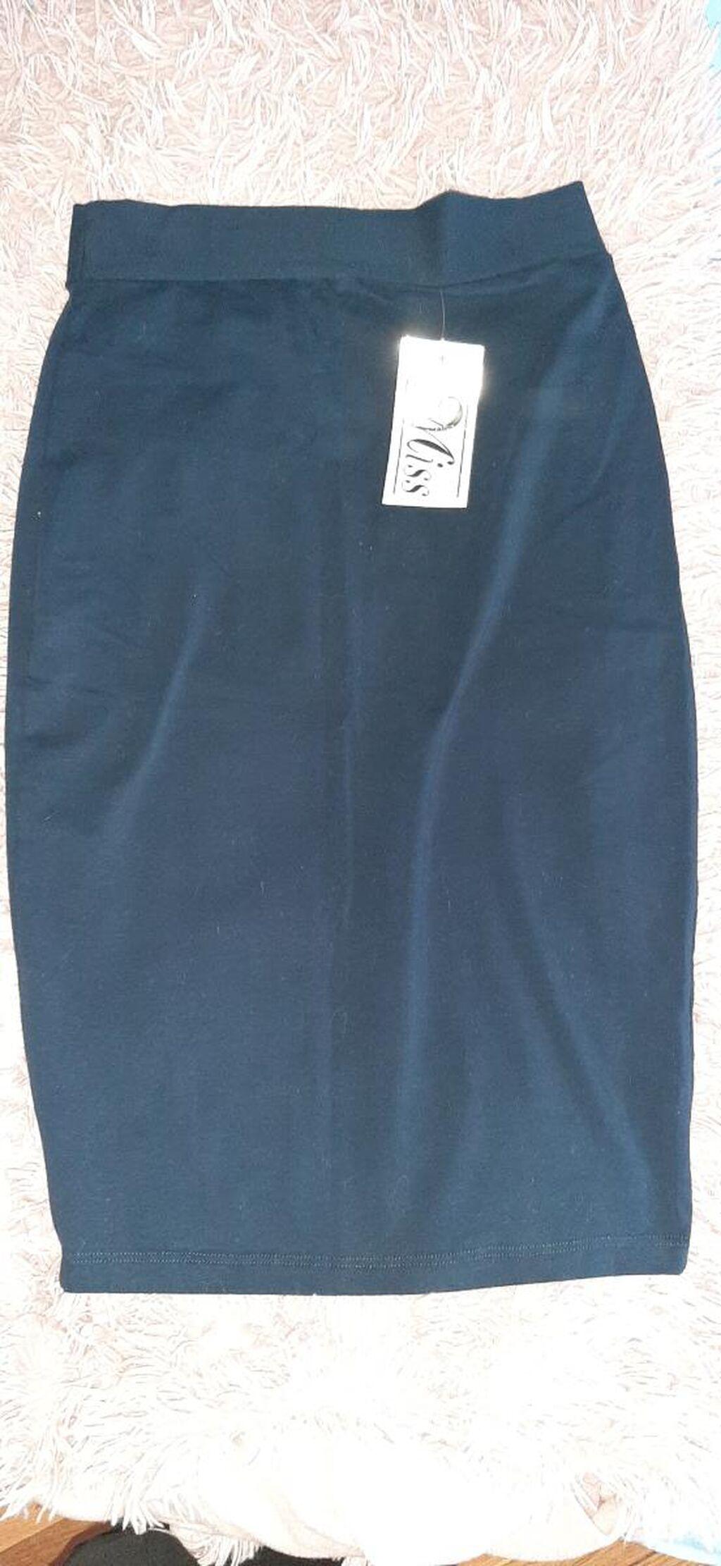 Nova pamucna suknja do kolena,uni velicina