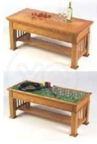 CASINO Table με Μπλακ τζακ, τράπουλες, Ρουλέτα και Ζάρια με το έξυπνο τραπέζι που τα συμπεριλαμβάνει