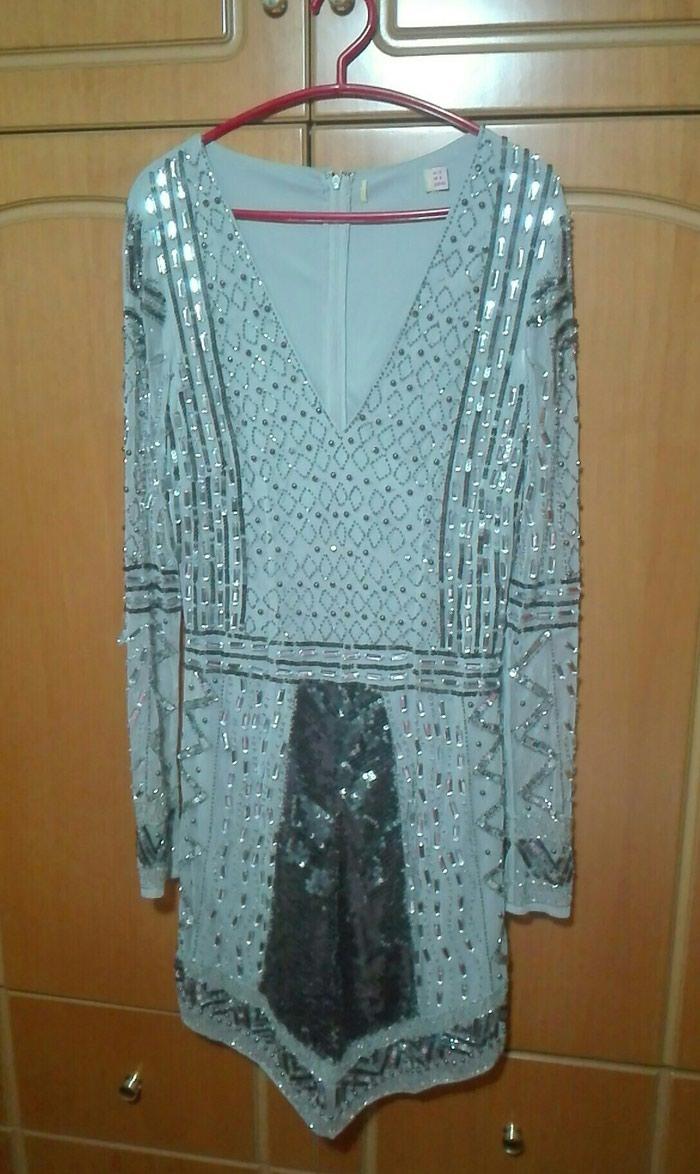 Μοναδικό κομμάτι φόρεμα κοντό medium large όλο στρας. Photo 0