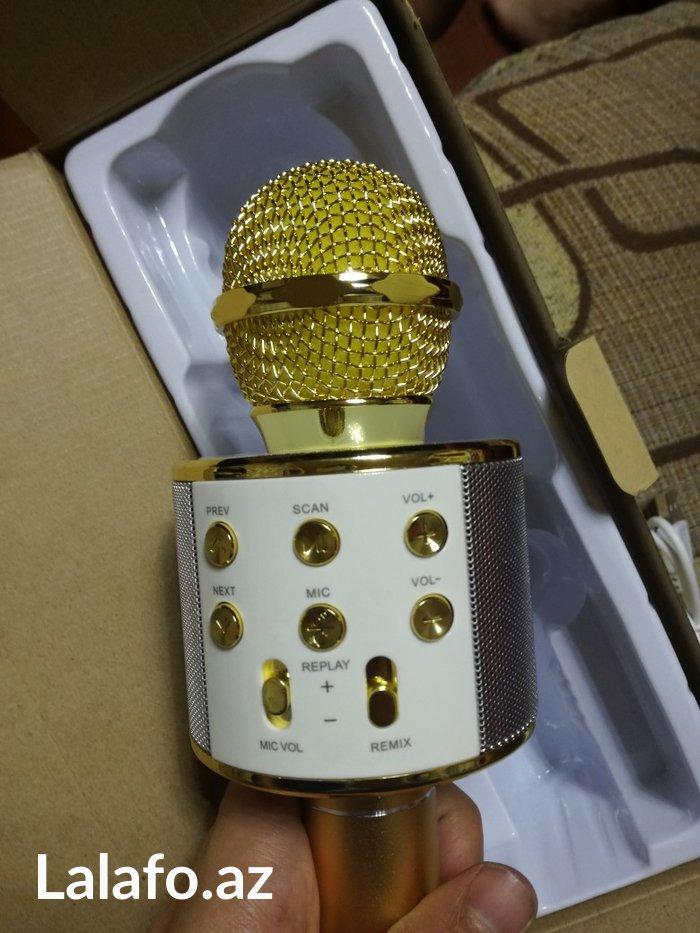 Bakı şəhərində Mikrofon wireless hifi speaker blutuz sd kart usb yeri kalonka radiosu