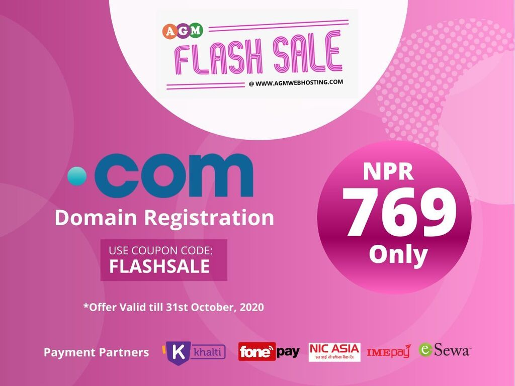 IT, Internet, Telekom - Kathmandu: Cheapest Domain Registration Service - AGM Web Hosting