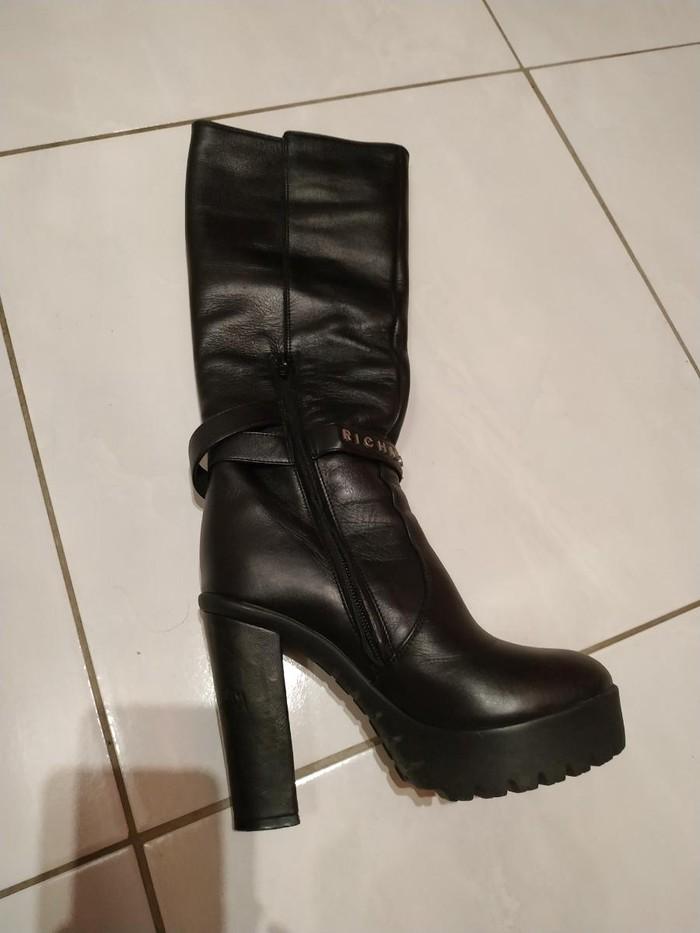 Μπότες μέχρι γόνατο, δέρμα, Richmond, νούμερο 36, σχεδόν καινούριες. Photo 4