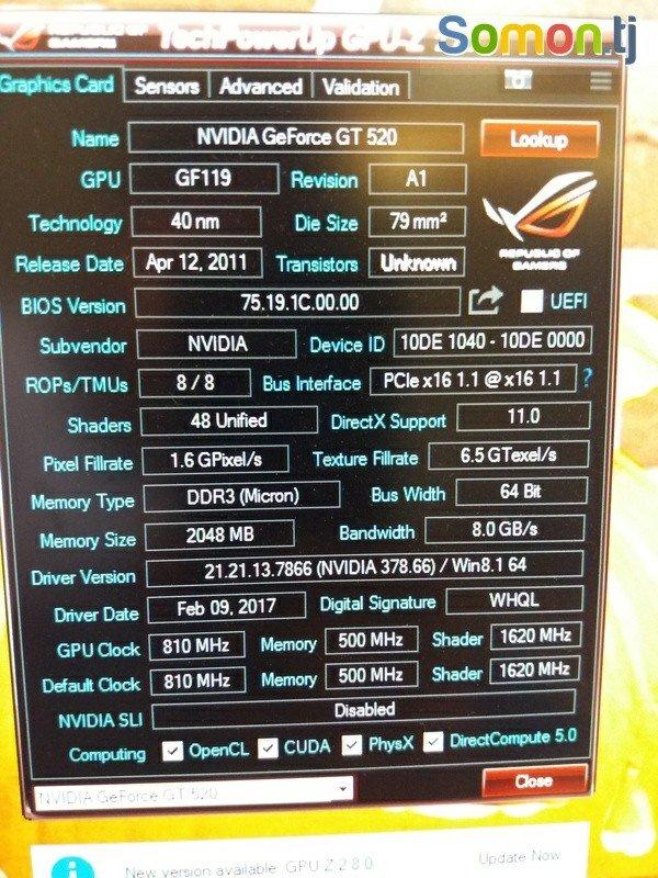 Видеокарта Geforce 520 2gb 64bit DDR3  САНЧИДА ГИРЕН. Photo 3