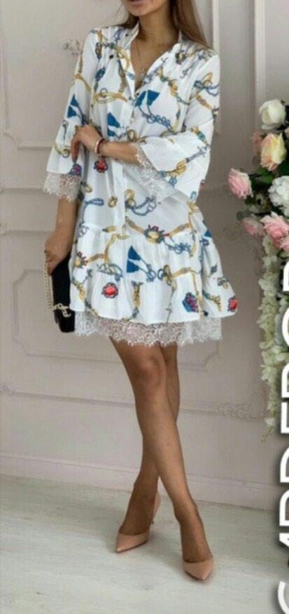 До До Нежное платье длина 95 см 3 расцветки.Размеры С М Л. Photo 0