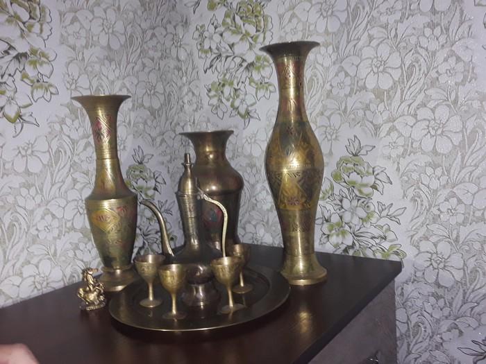 Антикварные вазы ручная работа из лутри Индия. Photo 2