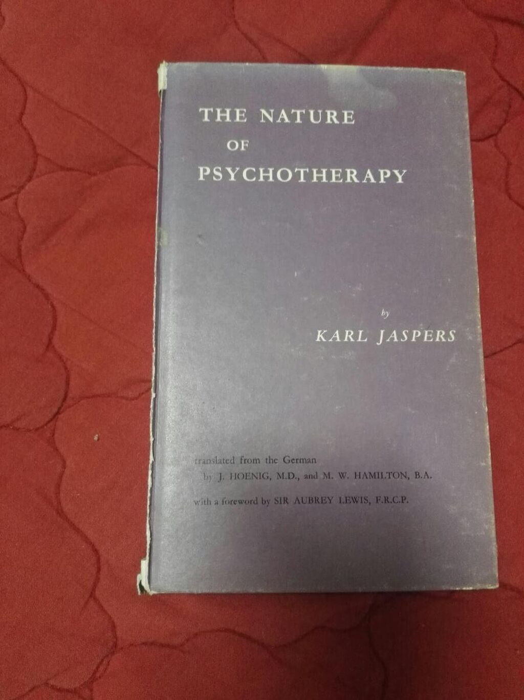 The nature of psyhotherapy Karl Jaspers