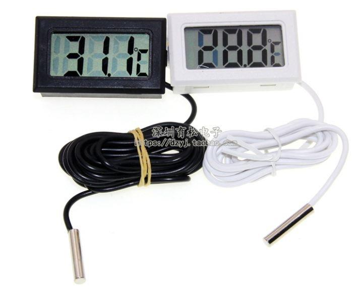 Термометр малогабаритный встраиваемый с датчиком. Photo 0