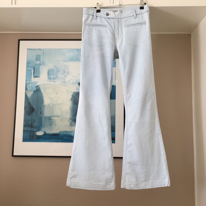 Zara ανοιχτό γαλάζιο jean καμπάνα.. Photo 0