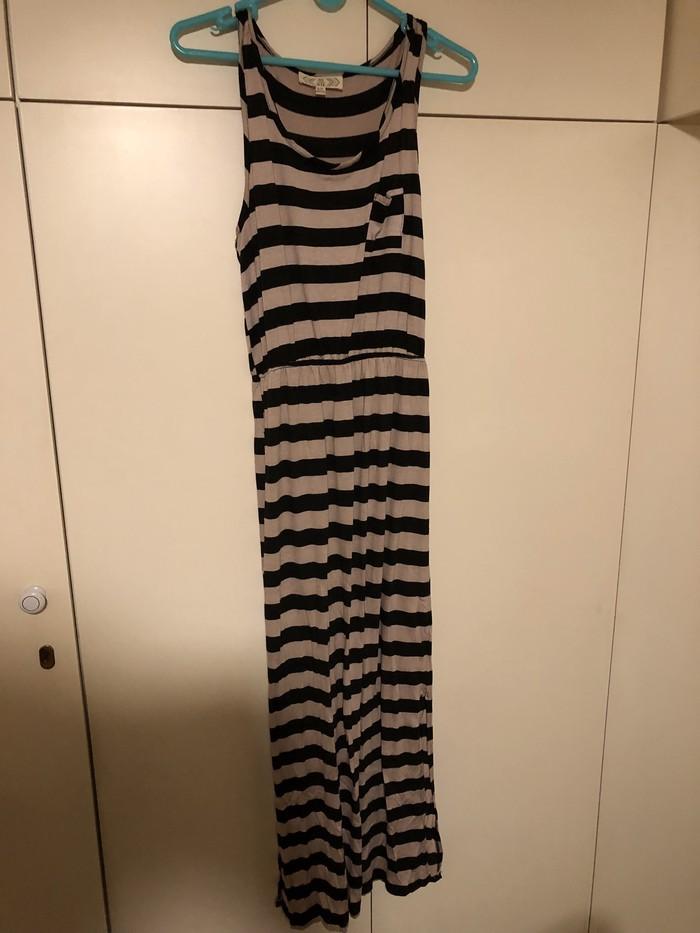 Kαφέ και μαύρο φόρεμα apo PINK ROSE size SMALL. Photo 0