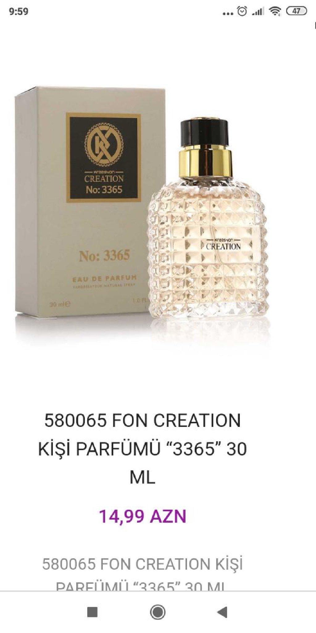 CREATİON kişi parfümü