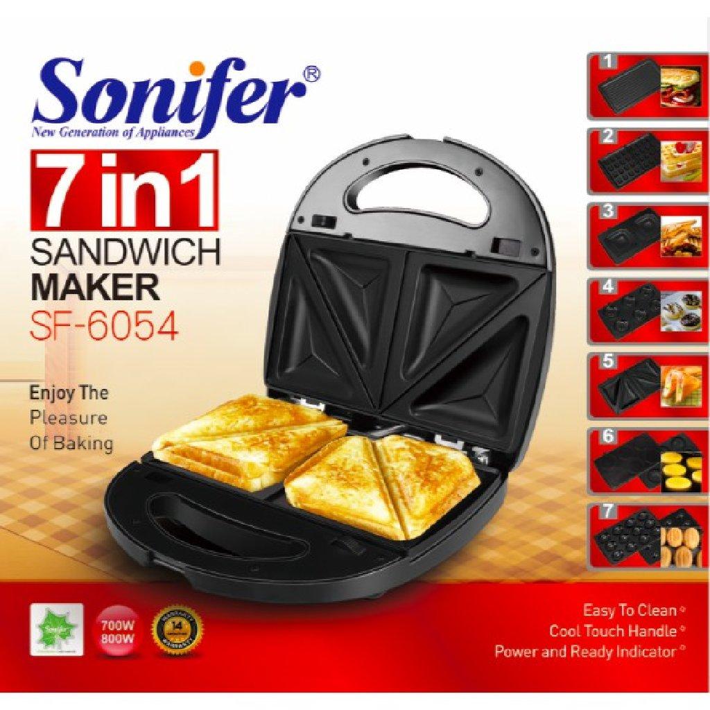 SONIFER 7 в 1 Электрический Сэндвич вафельница завтрак машина SF-6054