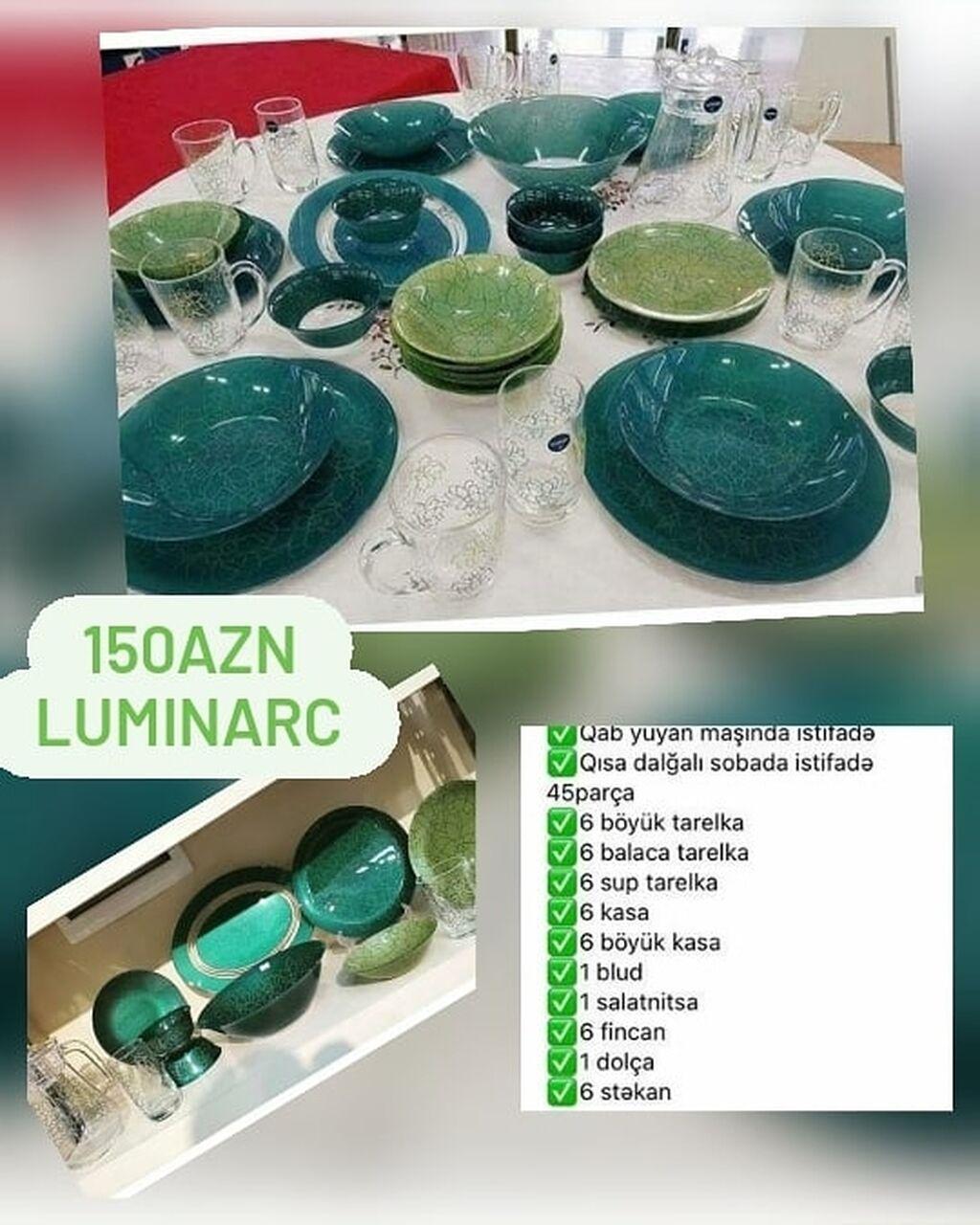 🎀150azn🎀Fransa istehsali Luminarc destYenidir isdifade olubmayib: 🎀150azn🎀Fransa istehsali Luminarc destYenidir isdifade olubmayib