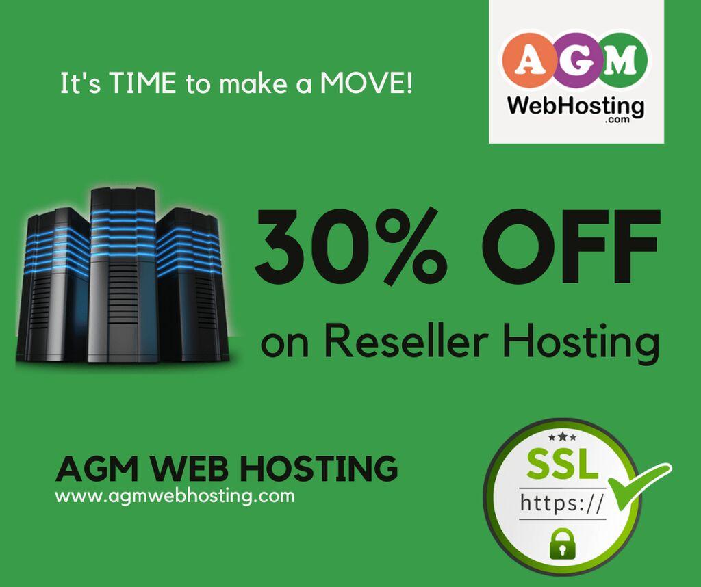 Get 30% off on Reseller Hosting - AGM Web Hosting