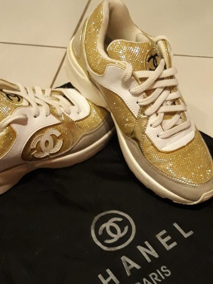 Παπούτσια αθλητικά τύπου Chanel, άριστη κατάσταση, νούμερο 37. Photo 1