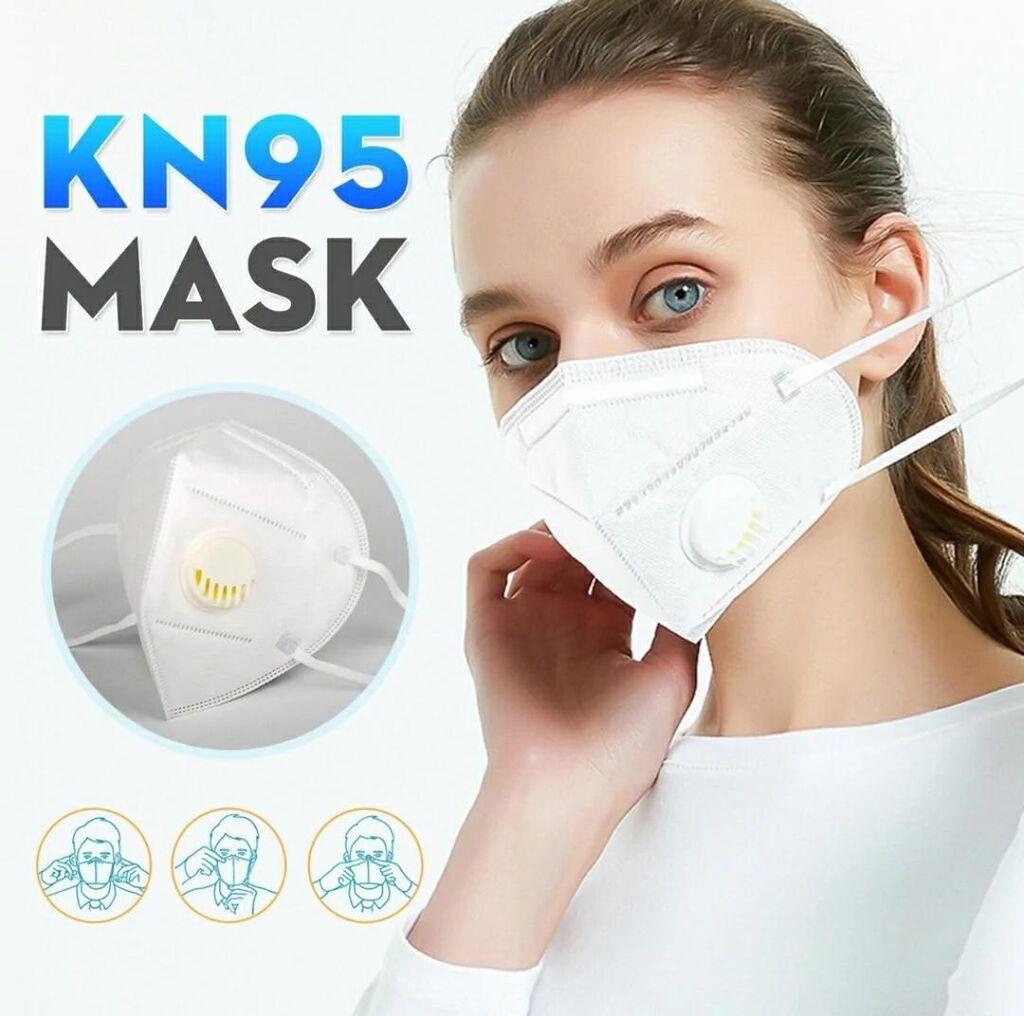 Респираторные маски KN95 FFP2 с клапаном,5 слоя фильтрации! | 65 ...