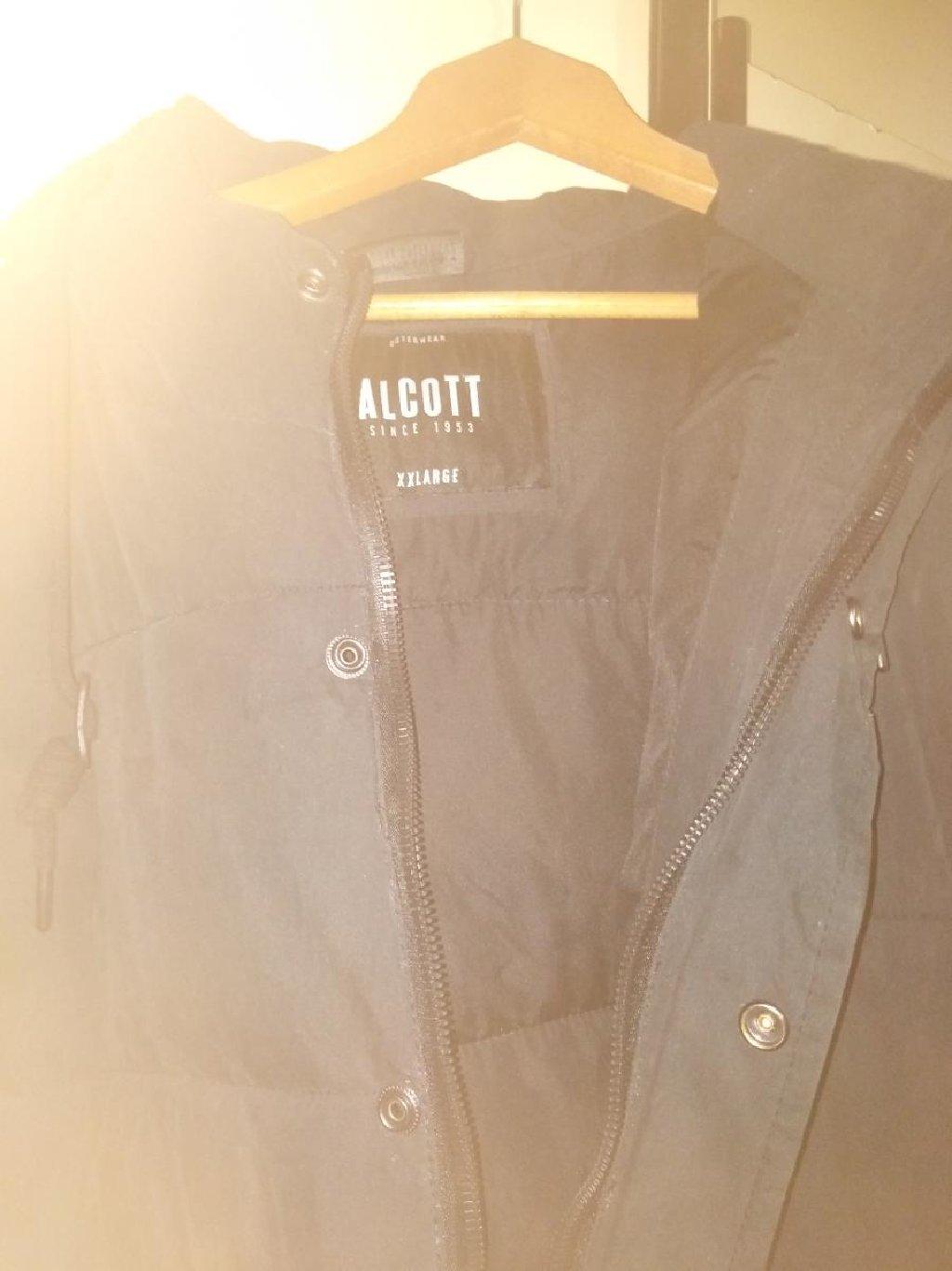 Perjana jakna, topla, lagana br. XXL, Crna, muška