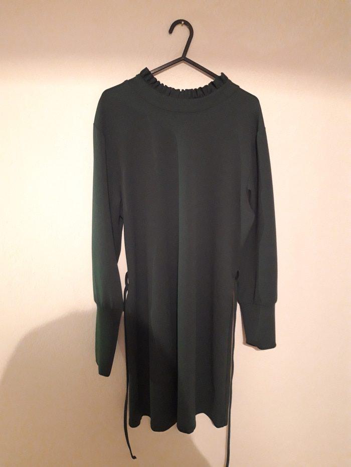 Φόρεμα σκούρο πράσινο S αφορετο. Photo 2