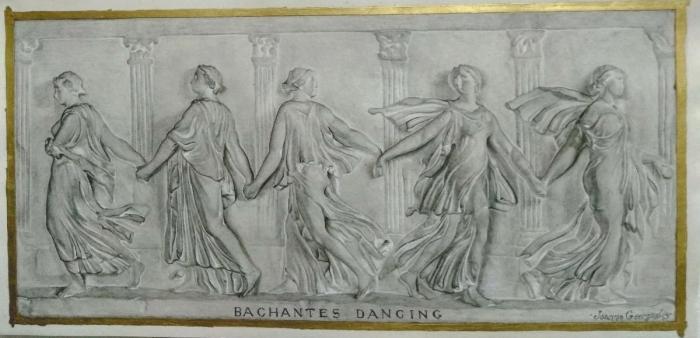 """Άγαλμα σχέδιο σε χαρτί """" Νύμφες που χορεύουν """""""