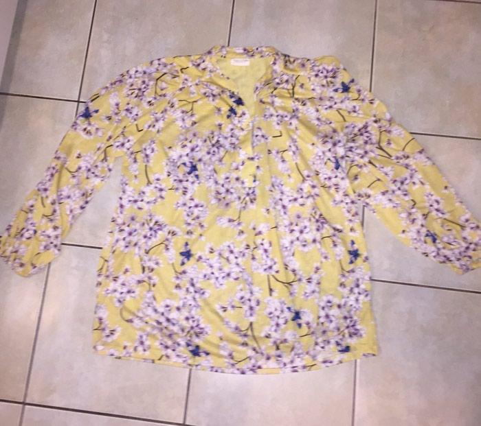 Καλοκαιρινή , boho floral μακρυμάνικη βαμβακερή μπλουζα Anna Glower