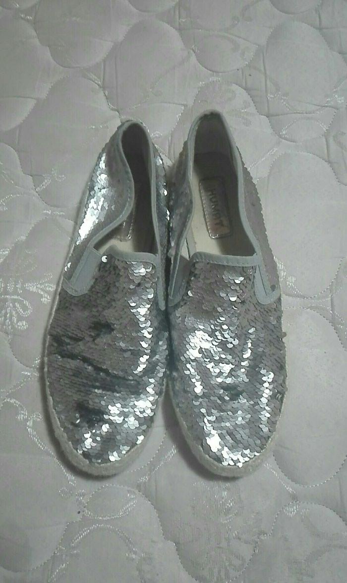 Παπούτσια νούμερο 40 ανοιξιάτικα ασημί σε Λαμία