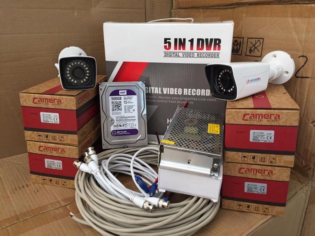 Dvr 4 port 2mp hdd 500 (sert disk ) camera 1 mp 4 əd  adapter 12 v 15: Dvr 4 port 2mp hdd 500 (sert disk ) camera 1 mp 4 əd  adapter 12 v 15