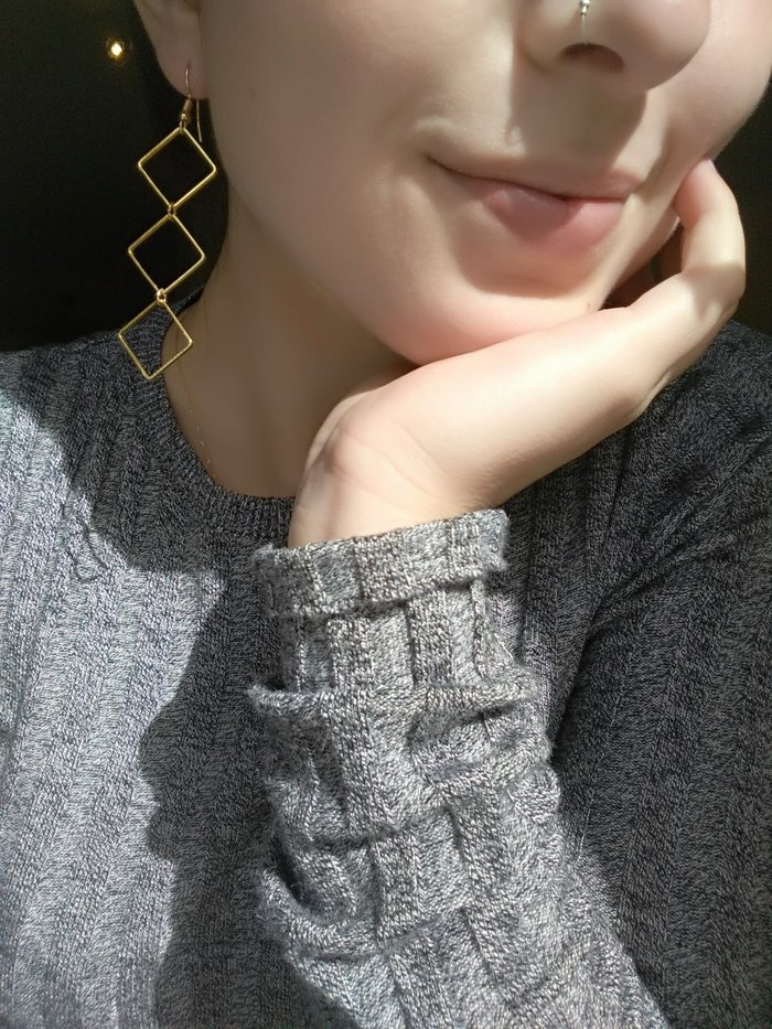 Χειροποίητα μπρούτζινα σκουλαρίκια (δικής μου κατασκευής). Photo 0