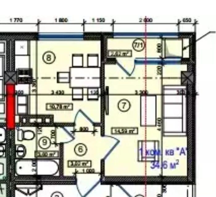срочно продаю или меняю 1 ком кв,   общая квадратура 35,6 м2, в Бишкек