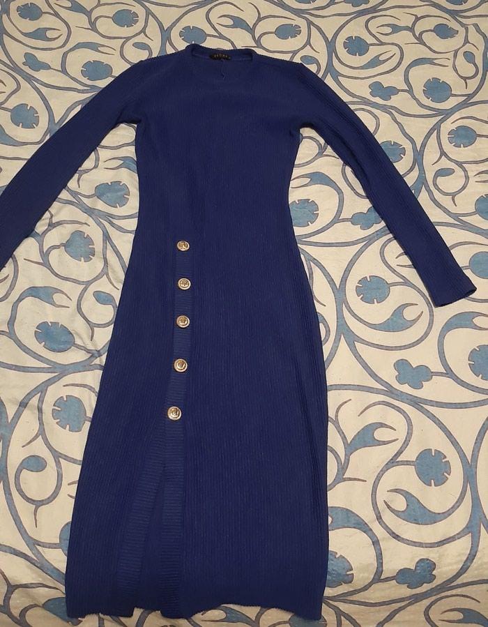 Prelepa plava haljina sa šlicom,extra stoji,placena 7000 - Beograd