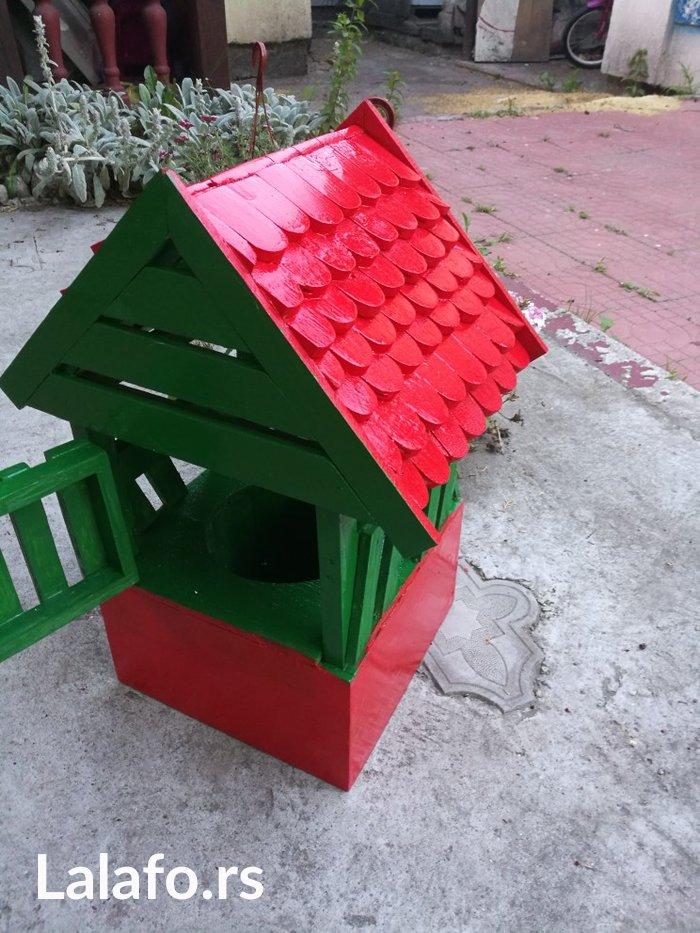 Bunar za dekoraciju dvorista sa imitacijom biber crepa od drveta 30x30 - Lazarevac