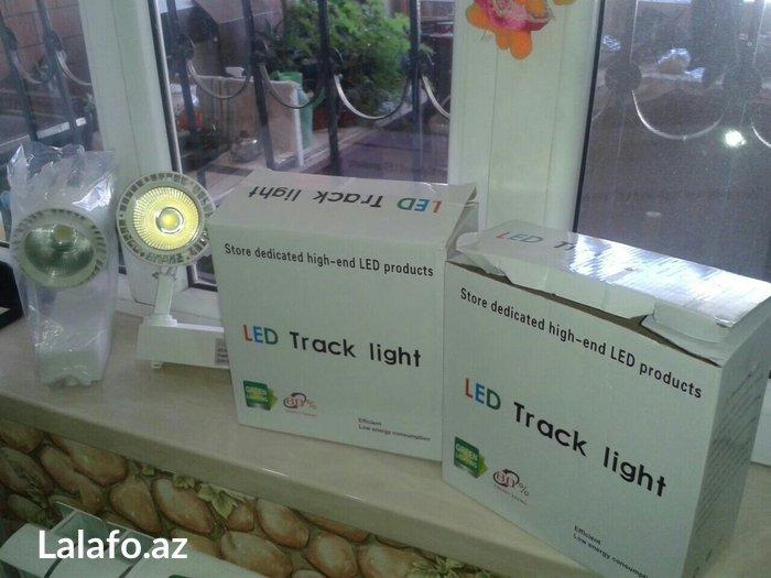 Led track light dekor üçün mini prajektor reyilə hərəkət edir 2 в Баку