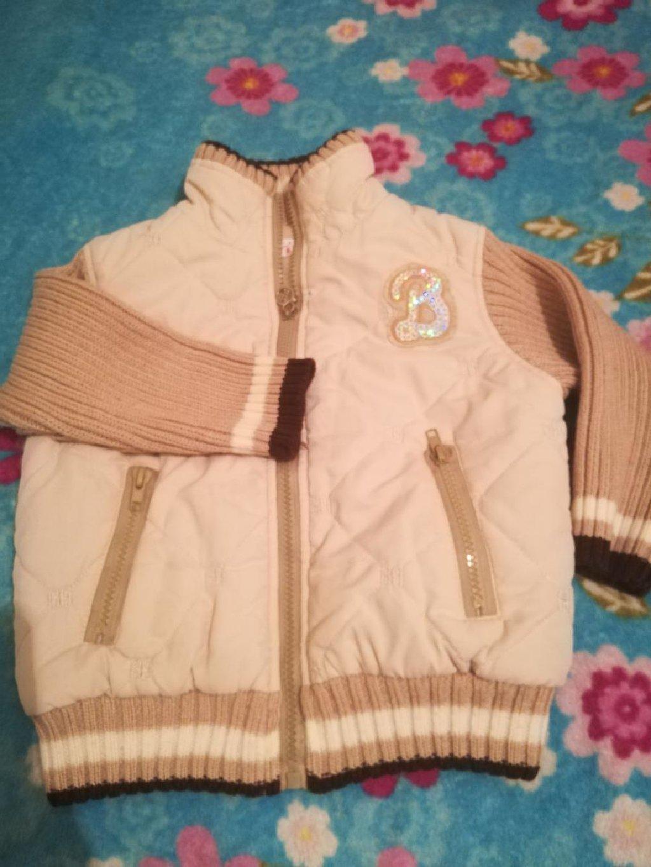 Теплая кофта-курточка для маленькой принцессы, возраст 1