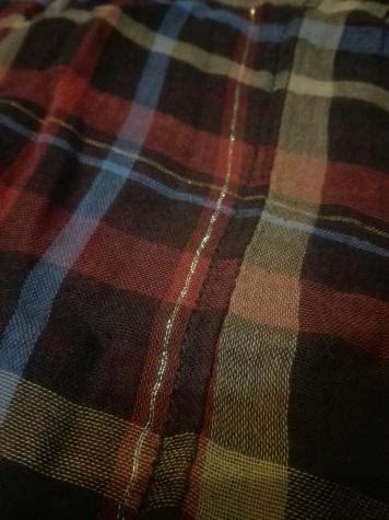 Φορεμα λινο με τζιν, καρο, ολοκαινουργιο. Photo 6